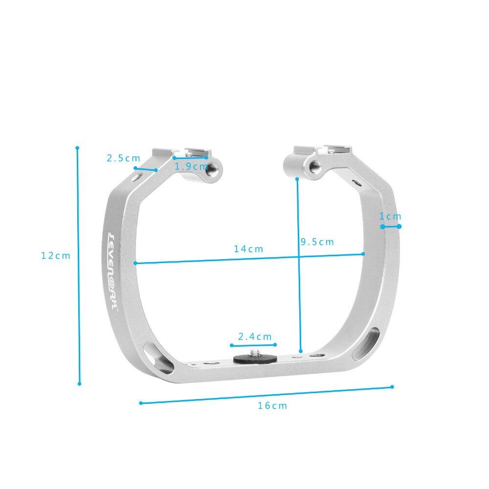 Diving Underwater Handheld Action Camera Holder Double-Arm Tray Support Stabilizer Holder Cage Selfie Monopod Mount For GoPor  (14)
