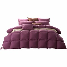 SNOWMAN LUXURY 600Thread count comforter white goose down brand new duvet 100 % cotton cover purple