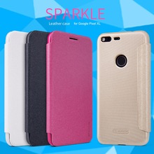 for Google Pixel XL NILLKIN Sparkle Flip Leather with Smart View Window Back Cover Phone Case for Google Pixel XL Flip Funda(China)