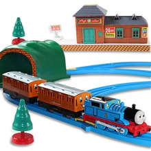 Toys For Children Thomas And Friends Electric Train 1 Set Trains Model Toys With Road & Rail System