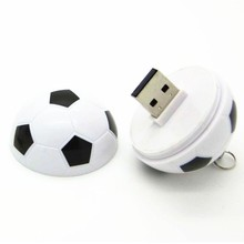 High Speed Cute Cartoon Plastic Soccer Ball Shape Special Gift USB 2.0 Flash Drive Memory Stick Pendrive 8gb 16gb