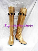 Freeshipping anime Sailor Moon Gold Cosplay Boots shoes Custom made for Halloween Christmas(China)