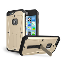 Heavy Duty Tank Rugged Cover Shockproof Phone Case Hybrid TPU With Stand Kickstand For Apple iPhone 5 5S SE 6 6S 6 Plus 6S Plus
