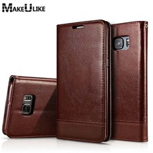 MAKEULIKE Magnetic Flip Case For Samsung Galaxy S8 Plus S7 Edge PU Leather Phone Bag Case For Samsung S7 S8 S6 Edge Plus Cover