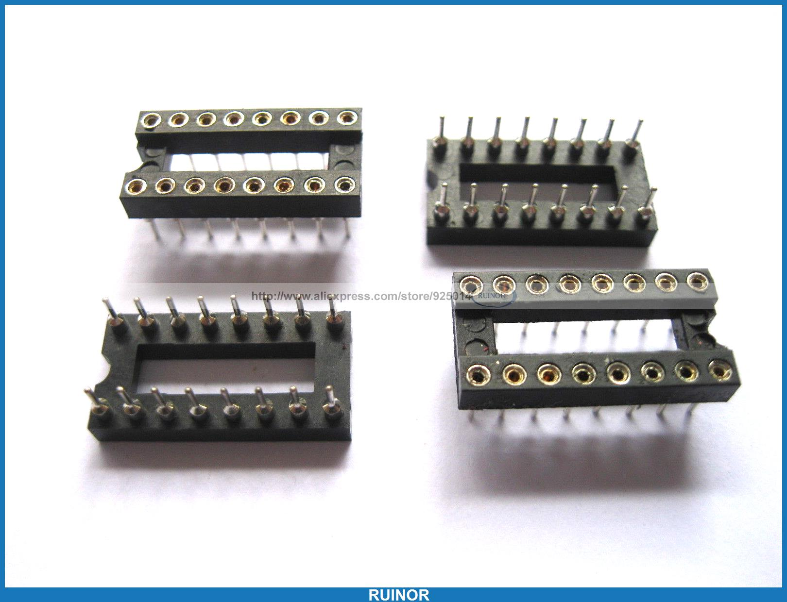 90 Pcs IC Socket Adapter 16 Pin Round DIP High Quality <br><br>Aliexpress