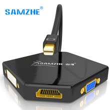 SAMZHE Mini DP to HDMI VGA DVI 1080P Cable Adapter Multiport for Macbook Macair DELL
