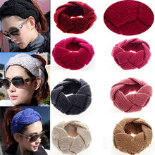 Crochet Twist Knitted Headwrap Winter Warmer Hair Band for Lady Good-looking Hairband Hair Accessories(China)