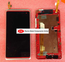 LCD Display + Touch Digitizer Screen glass  For HTC Desire 600 lcd display  with frame  Free shipping