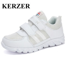 KERZER 2017 New Kids White Sneakers Summer Boys Children Shoes Breathable Kids Sport Sneakers For Girl Cheap Trainers Kd