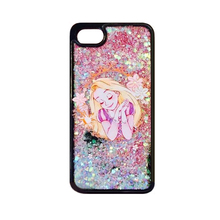 2017 Fashion cartoon fairy tale princess mermaid genius flare love sequins glitter flash powder liquid quicksand case For Iphone