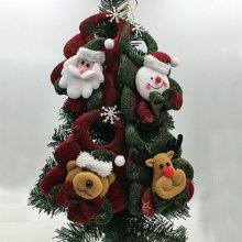 2017 Brand Happy New Year Christmas Decor Santa Snowman Xmas Tree Ornaments Hanging Pendant Gifts wholesale