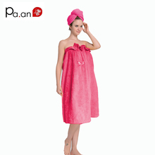 100% bamboo cotton women towels rose red bath towel body wrap in natural & soft beach wear towel high quality(China)