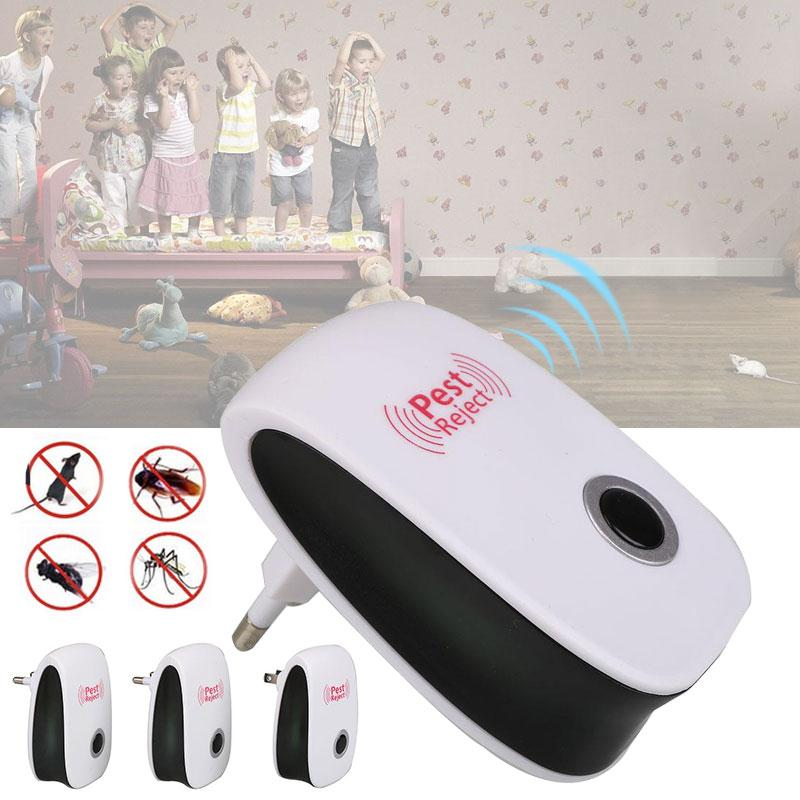 2017 Multifunction Mole Repeller Ultrasonic Anti Mosquito Repellent Cockroach Repeller Mouse Repellent Pest Reject Insect Killer