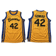 Beavers Movie Basketball Jersey #42 Teen Wolf Scott Howard Jersey Cheap Throwback Basketball Jersey Free Shipping(China)