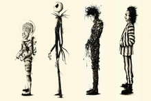 Tim Burton Beetlejuice Edward Scissorhands Movie Film Home Decor Posters Art Fabric Poster Printing For Gift(China)