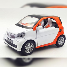 1/32 Diecasts&Vehicles MINI COOPER flashing pull back Mercedess Benzz smart alloy car model