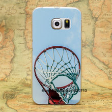 basketball rim red Design hard transparent clear Skin Cover Case for samsung galaxy s3 s4 s5 s6 s6 edge