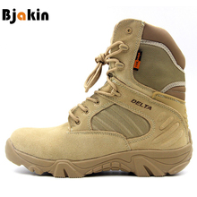 Bjakin Hiking Climbing Shoes DELTA Professional Waterproof Hiking Boots Tactical Boots Outdoor Mountain Climbing Sports Sneakers(China)