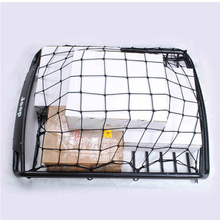 90x120cm Car Roof Rack Cargo Net Trunk Auto Top Holder Elastic Luggage Carrier Mesh Storage Organizer Rear Tail Truck Hooks(China)