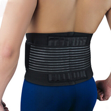 High elastic breathable double bandage straps waist brace support pad protector bodybuilding equipment free shipping #WA0014(China)