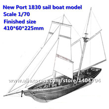 NIDALE model Hobby model kits Sacle 1/70 US Classic Baltiomore Schooner sailboat New Port 1830 sail boat wooden Model(China)