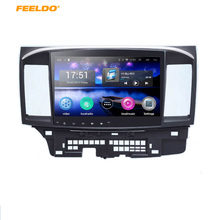 "FEELDO 10.2"" Quad Cord Android 4.4.2 Car GPS stereo player Mitsubishi Lancer EX navi browser radio Headunit navi 1024*600"
