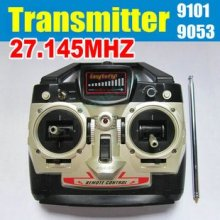 9053 RC helicopter spare parts:Remote control unit(with antanna) transmitte-Frequency 27MHZ