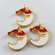 10PCS Colorful Crescent Moon Charms Enamel Cute Jewerly Making Finding Necklace Hanging Art Accessory Christmas Decoration 51940