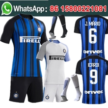 Free shipping  football jersey 2017 2018 man kit short socks Inters milan best quality camisetas de futbol Soccer jersey
