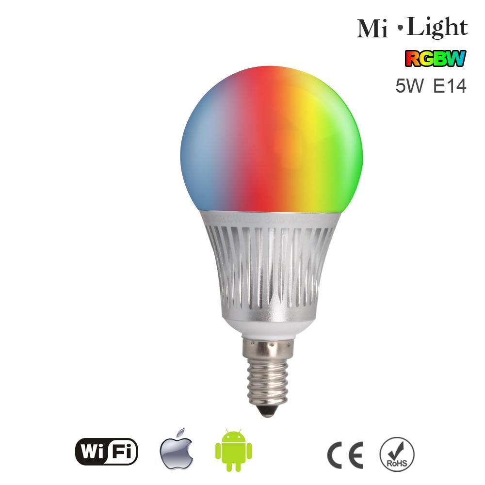 Erchen 2017 New Mi.light Dimmable Led 5W E14 Bubble Bulb RGBW/RGBWW 90~120V,200~240V,Light Lamp Color Brightness Adjustable<br><br>Aliexpress