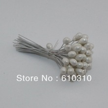 Buy Free New arrived 1000pcs/Lot Single head white pearl flower stamen iron wire stem pistil cake decoration craft DIY for $14.43 in AliExpress store