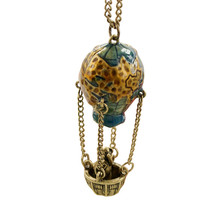 2017 Women Punk Fashion Personality Accessories Vintage Travel Globe Panda Necklaces&Pendants For Women Jewelry