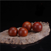 2pcs Vietnam Rosewood antistress hand massage wood ball massager roller Acupressure Lower bloodpressure promote blood circulate(China)