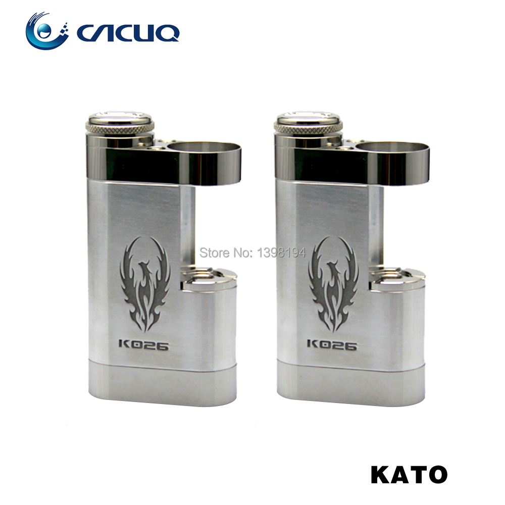 2014 Hot Kato Mod Kato Square Box  E Cigarette Mechanical Mod E Cig Box Mod Mechanical Mods 18650<br><br>Aliexpress
