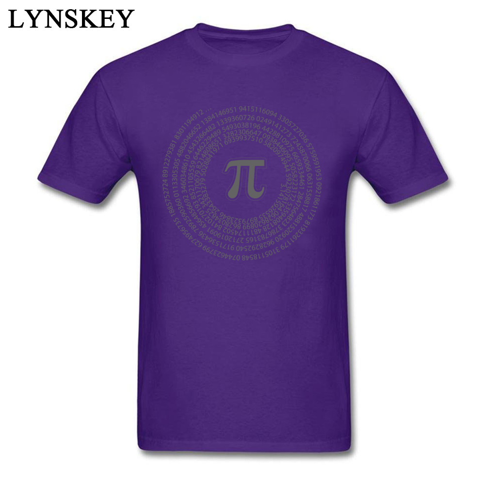 Group Tops T Shirt Funny Round Collar Short Sleeve Pi day vortex mathematical constant 100% Cotton Men T-shirts Casual Summer Tee-Shirt Pi day vortex mathematical constant purple