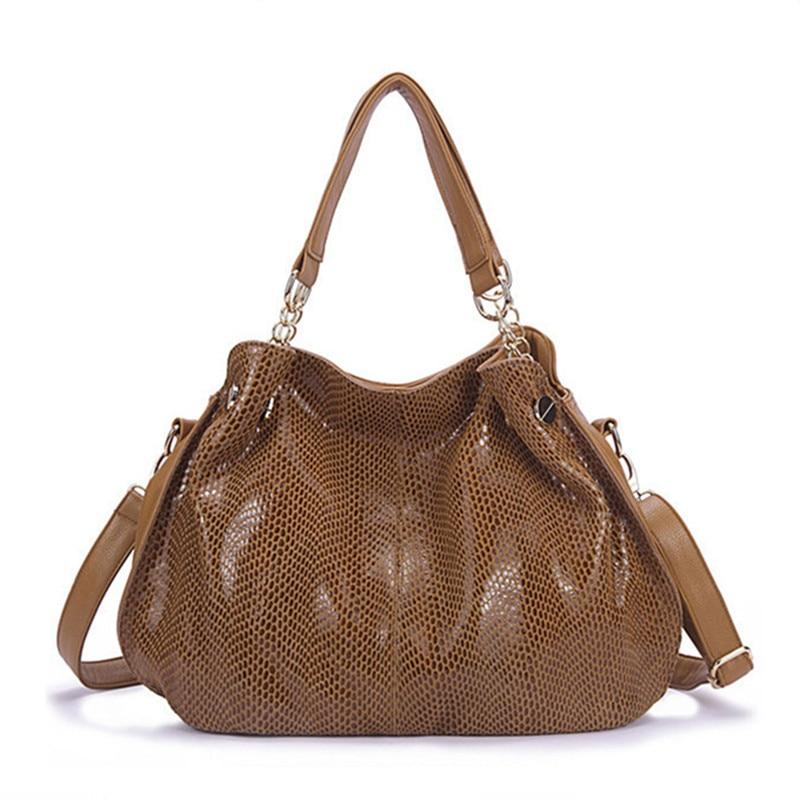 2017 Top Quality WOMEN Genuine Leather Bags for Women Serpentine Skin Ladies Handbags Famous Designer Ladies messenger bags<br>