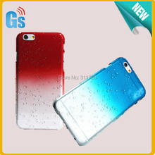 Multi Color 3D Raindrop Waterdrop Clear Hard Case Cover For iPhone 6S 6 Free Ship