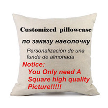 2017 wholesale wedding party gift customized cushion cover sofa pillow cover decor pillow case(China)