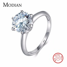 3Ct Modian 2017 Real 925 Sterling Silver Ring Clear Ten Heart CZ Zircon Fashion Wedding Engagement Classic Jewelry For Women(China)