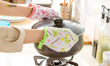 1PC Longming HOme New Cooking Baking BBQ Oven Mitt Kitchen Oven print Gloves Mitts Cooking Bakeware Accessories Glove LB 252(China)