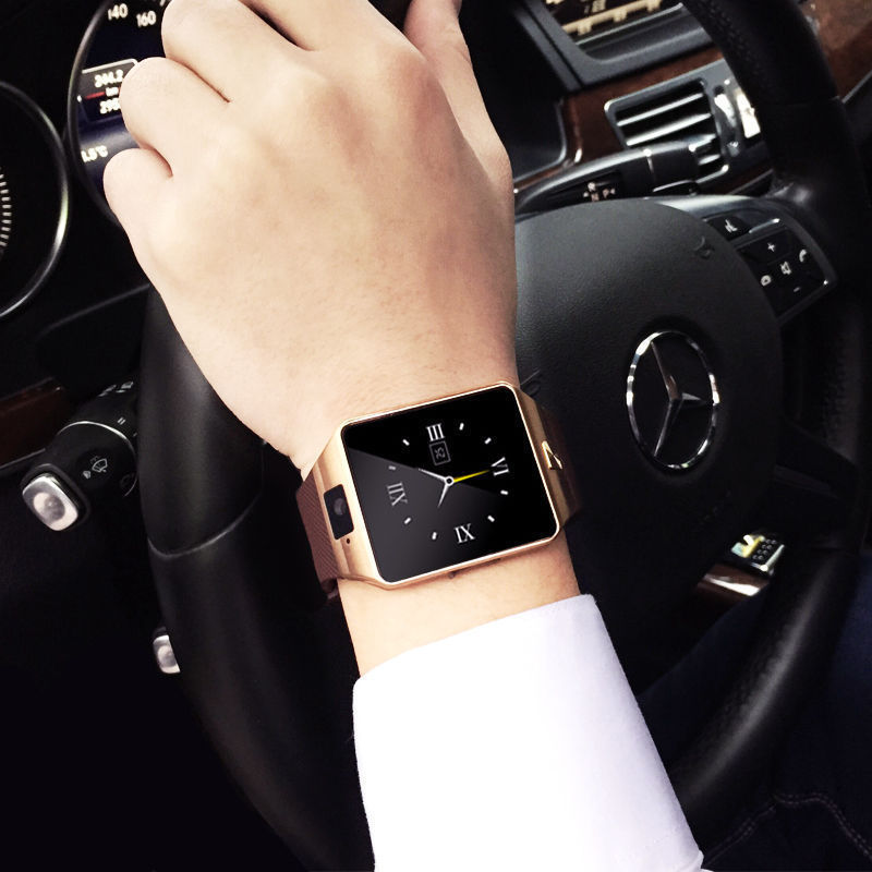 Gold-DZ09-Bluetooth-Smart-Watch-GSM-SIM-for