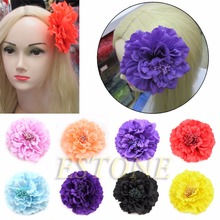 1 PC Flower Peony Hair Clips Wedding Bridal Bridesmaid Prom Festival Hairpin Brooch