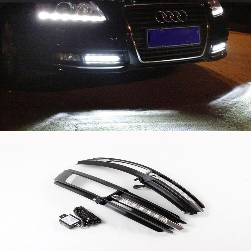2009-2011 ABS A6 C6  Auto Car Fof Light ,Fog Lamp Mask Cover Light Grill Grille Grid with Lamp(Fit A6 Standard Bumper 09-11)<br><br>Aliexpress