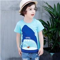 2017-Summer-Boys-Girls-T-Shirt-Short-Sleeve-Kids-Tees-Children-s-Cartoon-Shirts-Crab-Shark