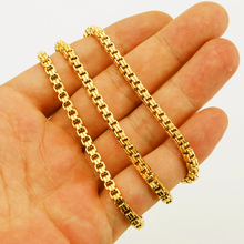 Medusa Design Jewelry Gold Color Chain For Men Jewelry Unisex Box Link Chain Necklace Wholesale(China)