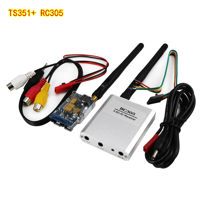 OCDAY 5.8 D FPV 200MW AV Wireless Transmitter 5.8 GHz, the TX Rx Receiver TS351 + RC305 Set 2 KM 2000 M<br>