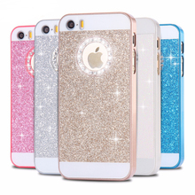 FLOVEME For iPhone 5 5S SE Cases Glitter Slim Bling Diamond Case For iPhone 5 5S SE Luxury Hard Back Phone Case For iPhone 5S 5(China)