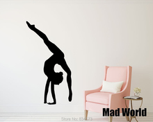 Mad World-Sport Gymnastics Girl Artistic Gymnastics Wall Art Stickers Wall Decal Home Decoration Removable Decor Wall Stickers
