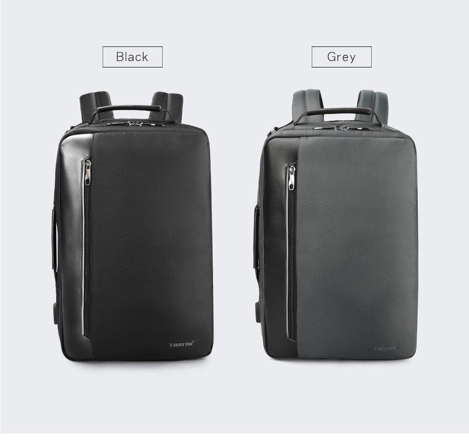 5.black dark grey backpackas