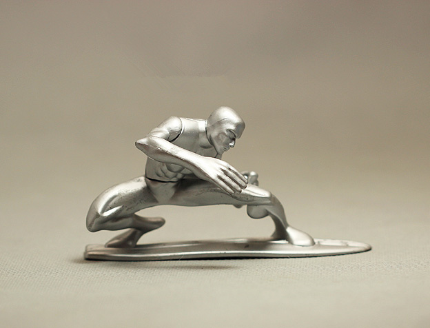 Wholesale Marvel Fantastic Four Silver Surfer PVC 11cm Model Toy Decorative Action Figure In Stock<br><br>Aliexpress